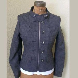 NWT BCBG MAX AZRIA Dark Java Wool Blend Jacket XS
